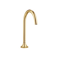 Deck-mounted basin spout without pop-up waste - brushed Durabrass - 13716809-28