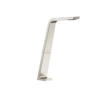 Deck-mounted basin spout without pop-up waste - platinum matt - 13717705-06