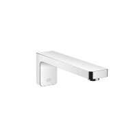 Wall-mounted basin spout without pop-up waste - polished chrome - 13800710-00