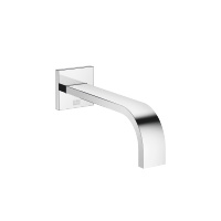 Wall-mounted basin spout without pop-up waste - polished chrome - 13800782-00