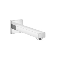 Wall-mounted basin spout without pop-up waste - polished chrome - 13800980-00
