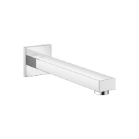 Wall-mounted basin spout without pop-up waste - polished chrome - 13805980-00