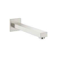 Wall-mounted basin spout without pop-up waste - platinum matt - 13805980-06