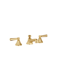 Three-hole basin mixer with pop-up waste - brushed Durabrass - 20700370-280010