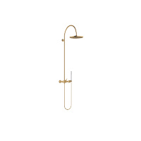 Showerpipe with shower mixer without hand shower - brushed Durabrass - 26632809-28