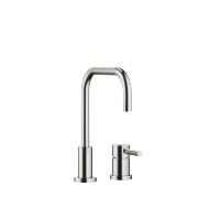Two-hole mixer with individual rosettes - platinum matt - 32800625-06