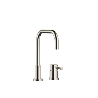 Two-hole mixer with individual rosettes - platinum - 32800625-08