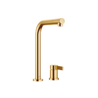 Two-hole mixer with individual rosettes - brushed Durabrass - 32800790-28