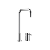Two-hole mixer with individual rosettes - polished chrome - 32815625-000010