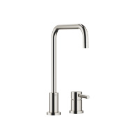Two-hole mixer with individual rosettes - platinum matt - 32815625-06