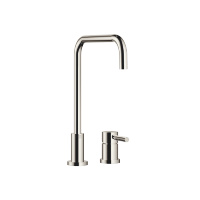 Two-hole mixer with individual rosettes - platinum - 32815625-08