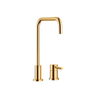 Two-hole mixer with individual rosettes - brushed Durabrass - 32815625-28