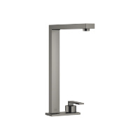 Two-hole mixer with cover plate - Dark Platinum matte - 32843680-990010