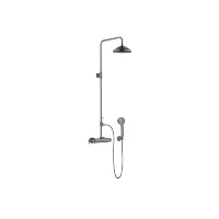 Shower thermostat for wall mounting with fixed and hand shower - Dark Platinum matt - 34455970-99