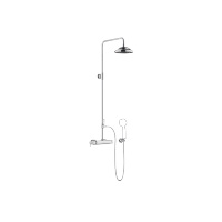 Exposed shower set with shower thermostat without hand shower - polished chrome - 34459360-000010