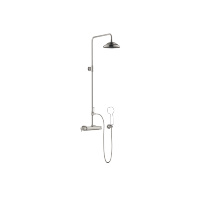 Showerpipe with shower thermostat without hand shower - platinum matt - 34459360-060010