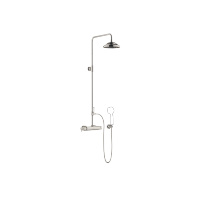 Exposed shower set with shower thermostat without hand shower - platinum - 34459360-080010