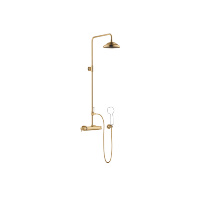Exposed shower set with shower thermostat without hand shower - Brushed Durabrass - 34459360-280010
