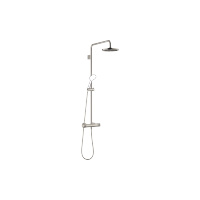 Showerpipe with shower thermostat without hand shower - platinum matt - 34459979-06