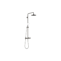 Showerpipe with shower thermostat without hand shower - Dark Platinum matt - 34459979-99