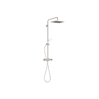 Showerpipe with shower thermostat without hand shower - platinum matt - 34459980-06