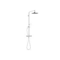 Exposed shower set with shower thermostat without hand shower - polished chrome - 34460979-000010