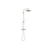Showerpipe with shower thermostat without hand shower - platinum matt - 34460979-06