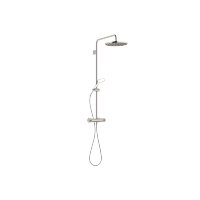 Showerpipe with shower thermostat without hand shower - platinum - 34460979-080010