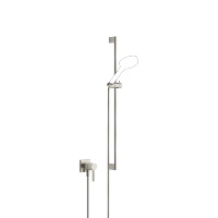 Concealed single-lever mixer with integrated shower connection with shower set without hand shower - platinum matt - 36013970-06