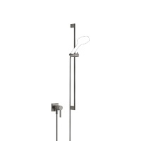 Concealed single-lever mixer with integrated shower connection with shower set without hand shower - Dark Platinum matt - 36013970-99