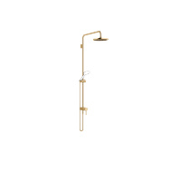 Showerpipe with single-lever shower mixer without hand shower - brushed Durabrass - 36112970-28
